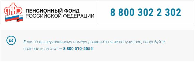 Пенсионный фонд телефон горячей линии