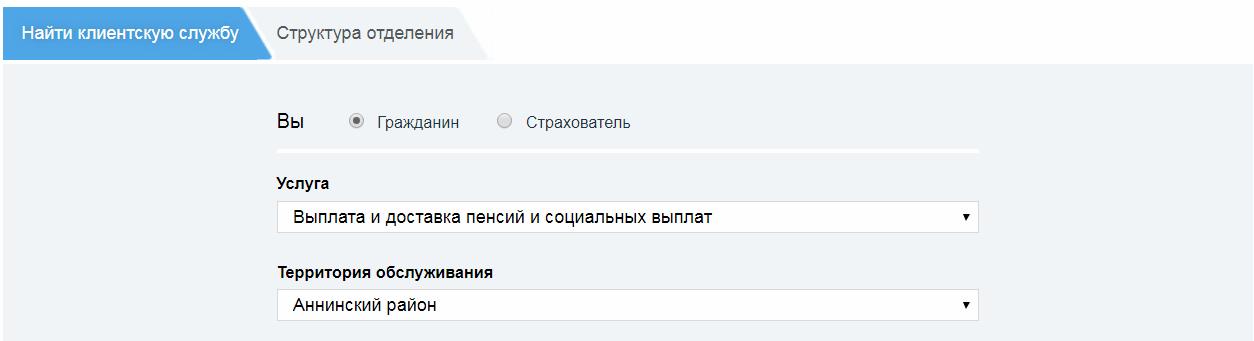 Пенсионный фонд Воронежской области официальный сайт
