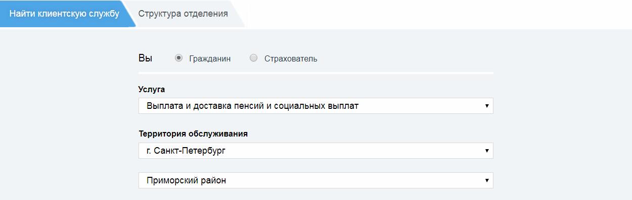 Пенсионный фонд Приморского района СПБ официальный сайт