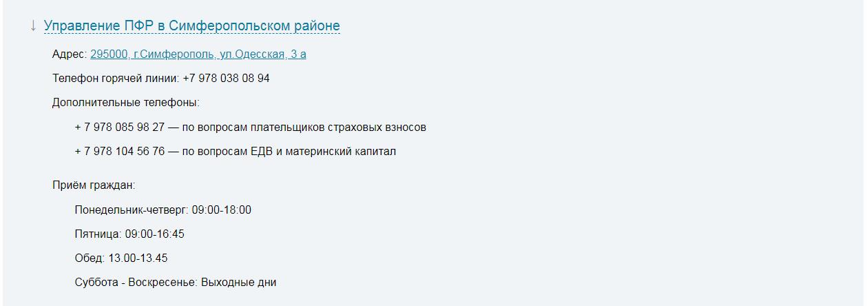 Пенсионный фонд республики Крым официальный сайт