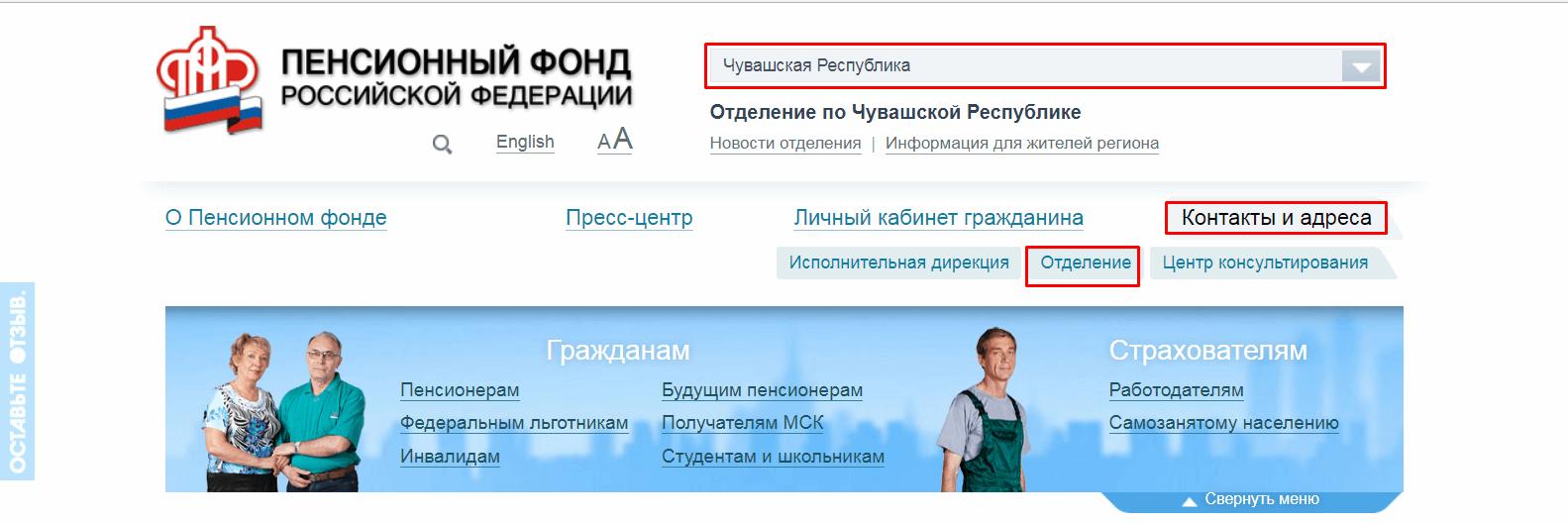Пенсионный фонд Чебоксары