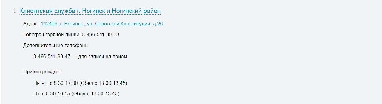 Пенсионный фонд Ногинск