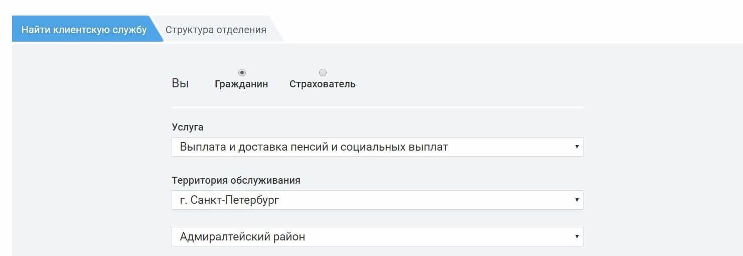 Пенсионный фонд Санкт-Петербурга